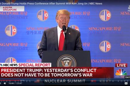 Singapore Summit Press Conference by President Donald Trump