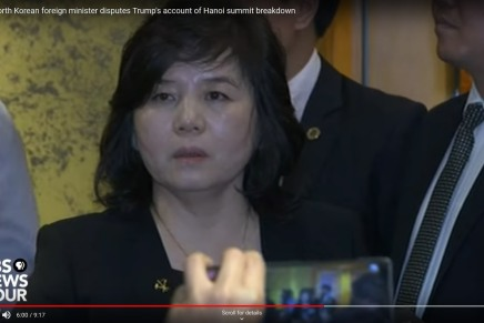 Choi Son Hui's Remarks on the Failed Summit